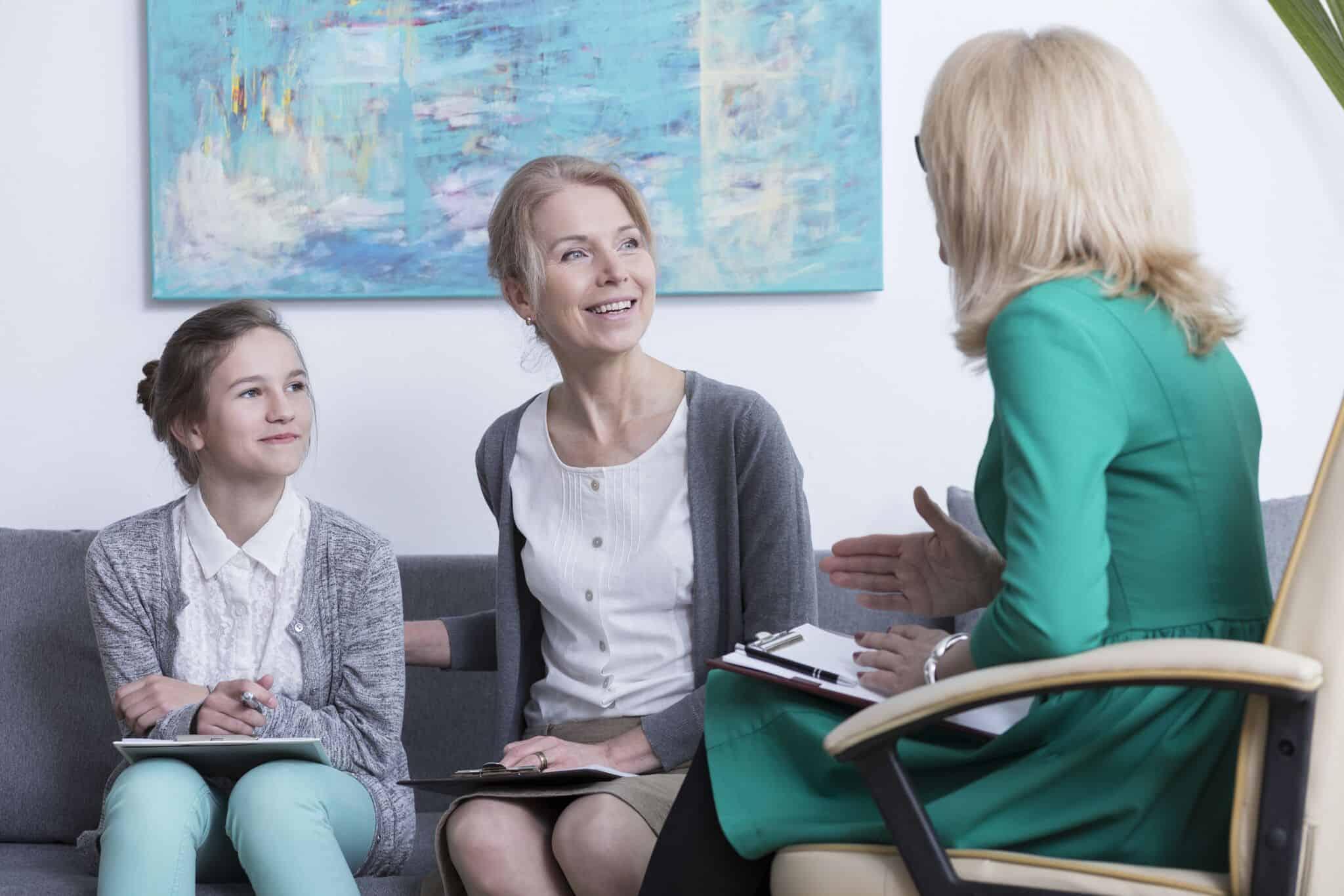 Beratungsgespräch Eltern und Kind