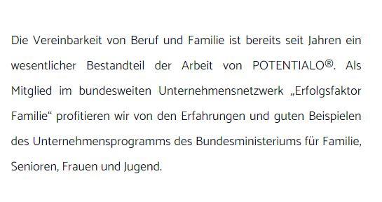 Familiie Unternehmensnetzwerk Text